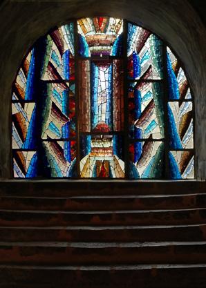 2009  Chartres (Eure et Loir), cathédrale, verrière pour la crypte Notre-Dame-de Sous-terre : mars 2010.